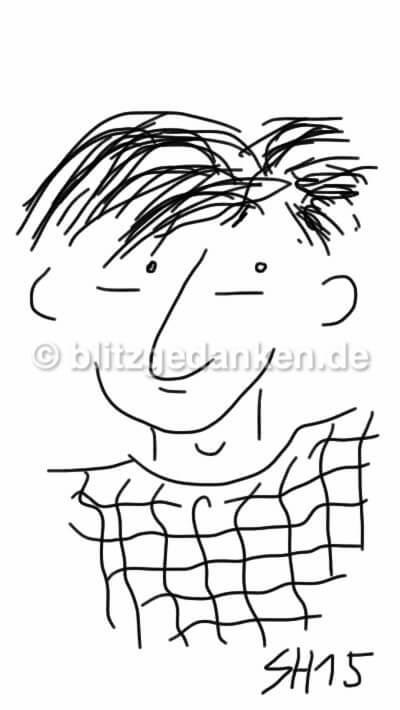 Computerzeichnung Portrait