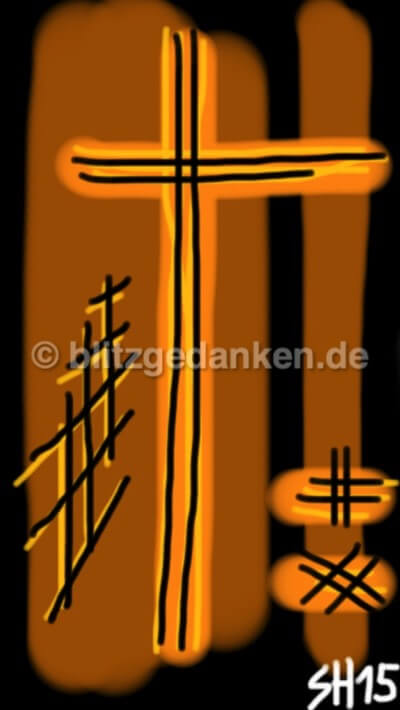 Computermalerei abstrakt, orange