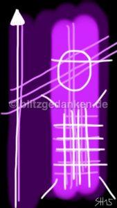 Computermalerei abstrakt, violett