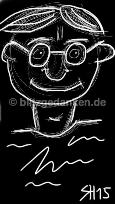 Computerzeichnung Gesicht