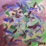 Acrylgemälde, lila Muster