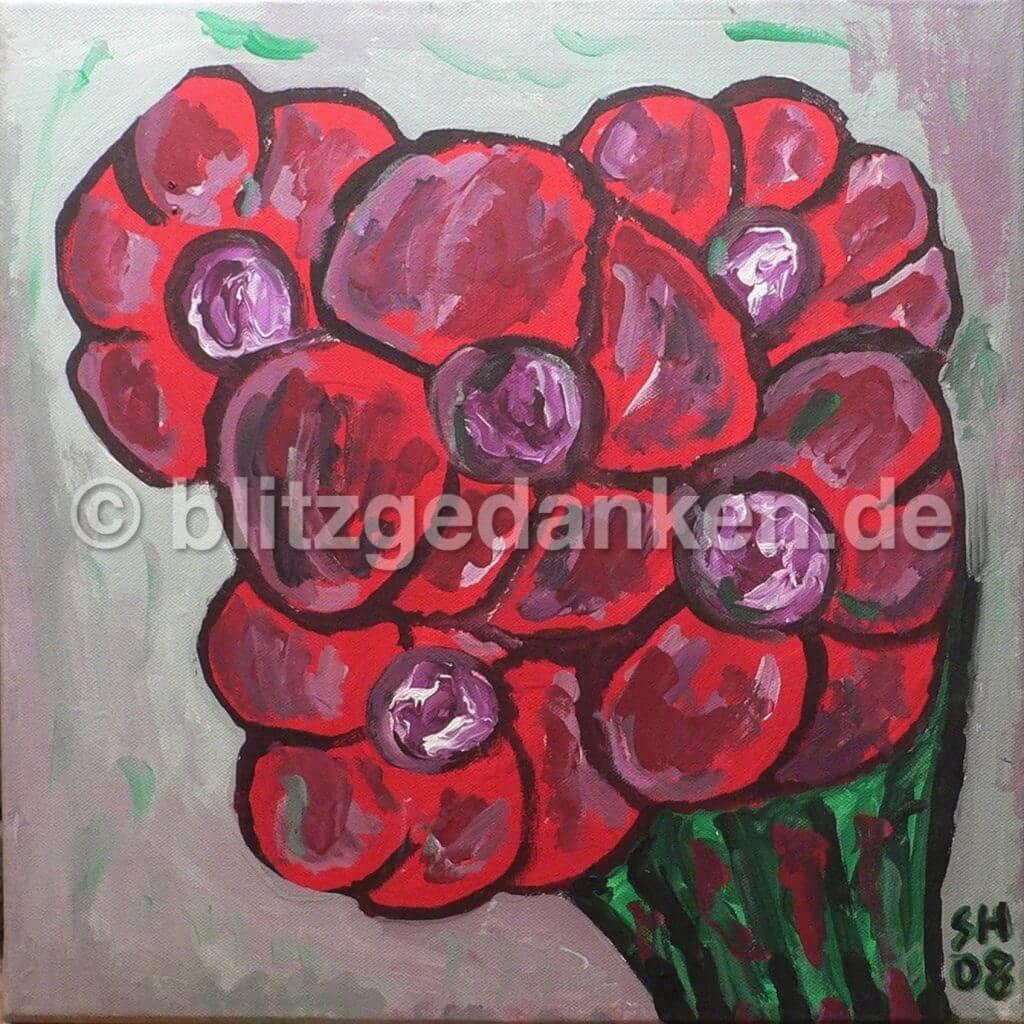 Acrylmalerei, Blumenstrauss