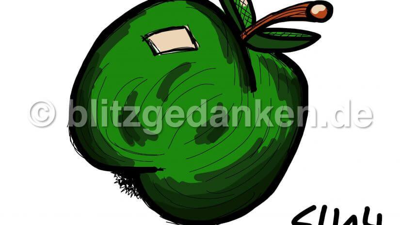 Computermalerei, Apfel