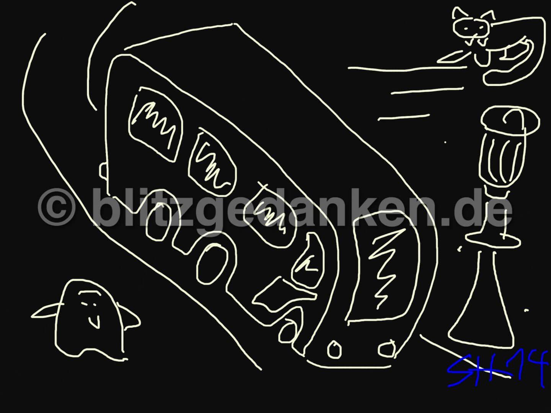Computermalerei, schwarz weiß