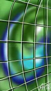 grün-blauer Wirbel