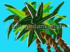 Computermalerei, Palmen