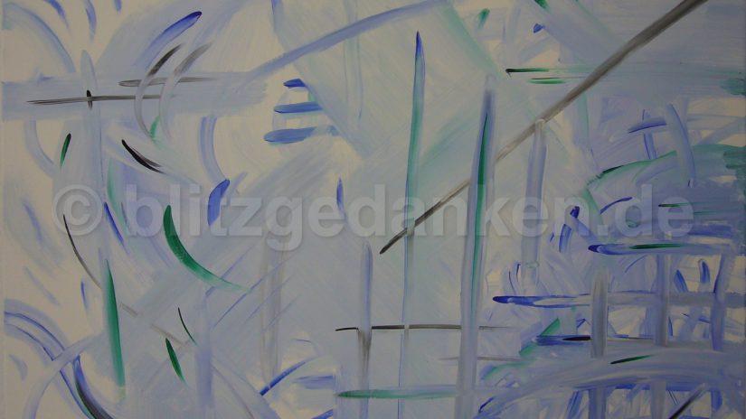 hellblaues Acrylgemälde