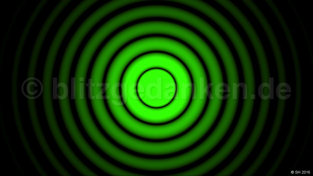 green diffraction pattern