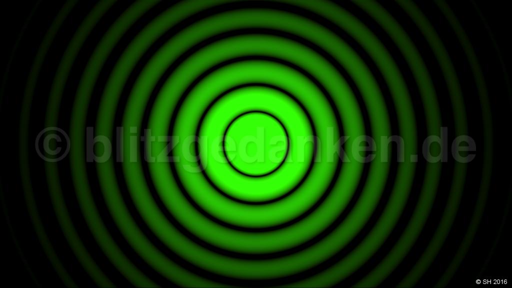 green diffraction pattern