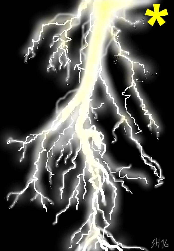 Blitze zeichnen am iPad