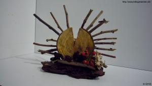 Holzskulptur (Sonne)