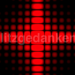 Red Diffraction Pattern Square