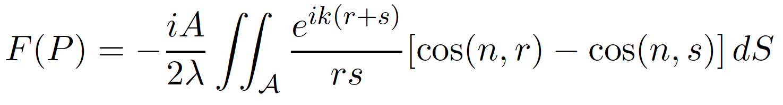 fresnel-kirchhoffsche-beugungsformel