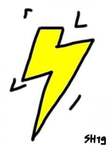 einfache Blitze zeichnen